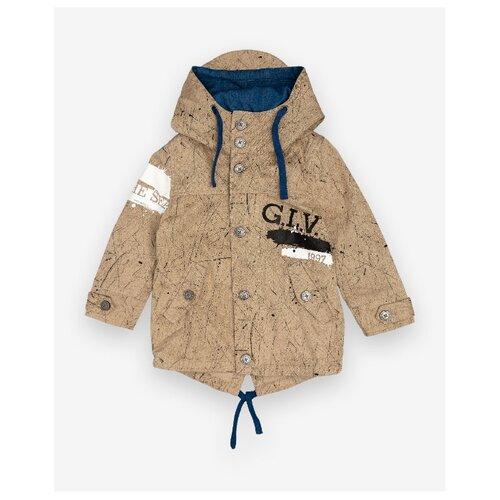 Ветровка Gulliver 12005BMC4004 размер 128, бежевый, Куртки и пуховики  - купить со скидкой