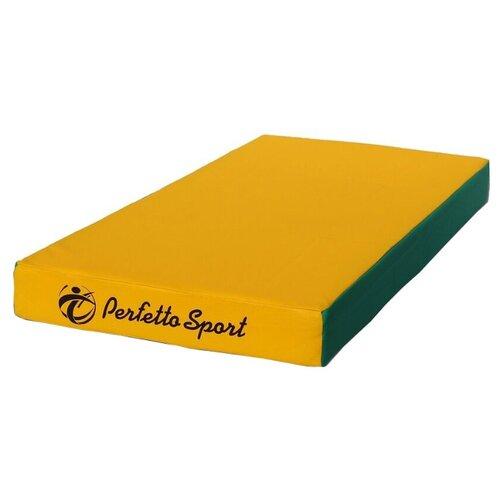 Спортивный мат 1000х500х100 мм Perfetto Sport № 1 зелёно/жёлтый