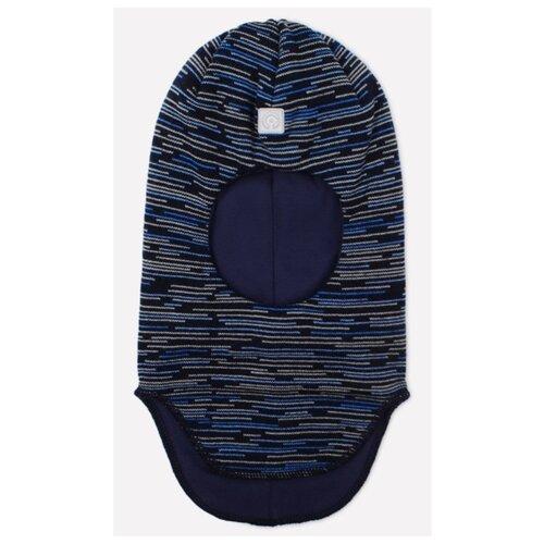 Купить Шапка-шлем crockid размер 50-52, темно-синий/голубой, Головные уборы