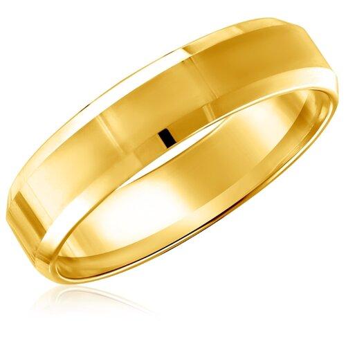 Бронницкий Ювелир Кольцо из желтого золота 10-721-Ж, размер 21 кольцо из золота кпет50 ж л