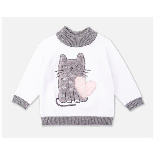 Свитер playToday размер 92, белый/черный/светло-розовый/светло-серый колготки для девочки acoola muna цвет светло розовый 20254460001 3400 размер 92