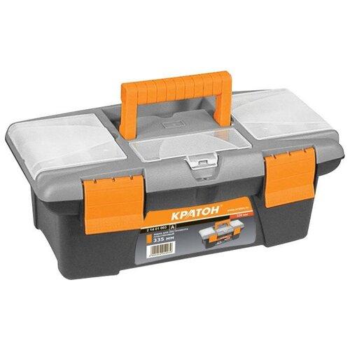 цена на Ящик с органайзером Кратон 2 14 01 003 33.5x18x13 см серый/оранжевый