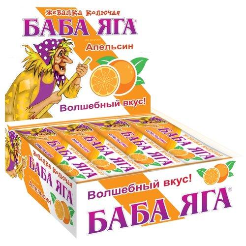 Жевательные конфеты Сладкая сказка Баба Яга апельсин 48 шт. сладкая сказка рождественская дверь красная шоколадные конфеты 400 г