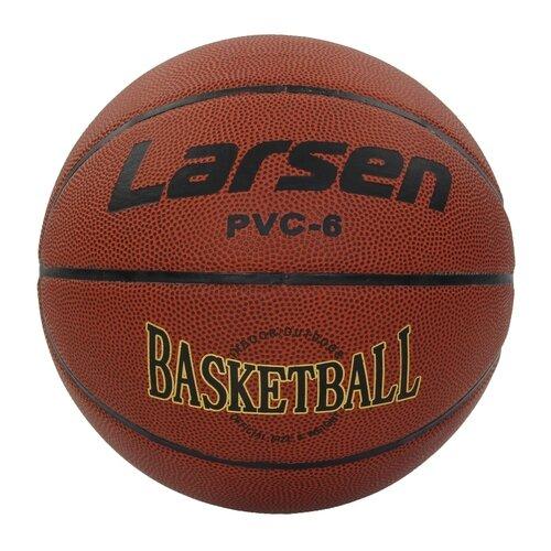 Баскетбольный мяч Larsen PVC6, р. 6 коричневый баскетбольный мяч larsen pu6 р 6