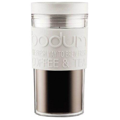 Термокружка Bodum Travel Mug, twist, 0.35 л белый