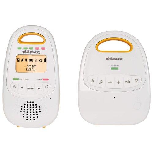 Радионяня Maman BM2000 белый/оранжевый, Радио- и видеоняни  - купить со скидкой