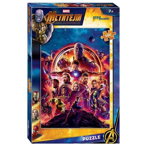 Пазл Step puzzle Marvel Война бесконечности (97066), 560 дет. пазл step puzzle черепашки ниндзя 97070 560 дет