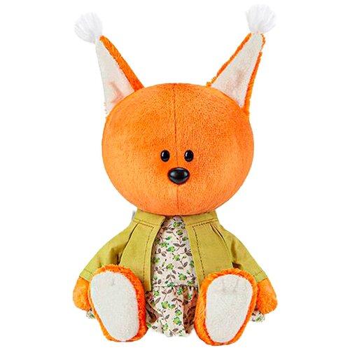 Мягкая игрушка Лесята Белка Бика в платье и курточке 15 см