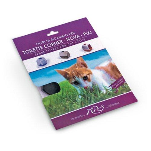 Фильтр для туалета кошек MPS Pixi S07070100 черный 3 шт.