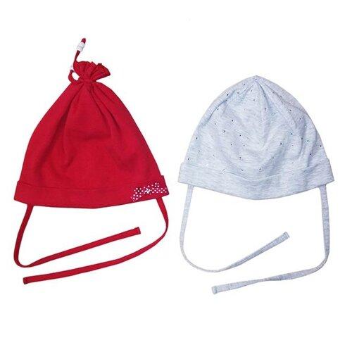 Шапка playToday размер 46, красный/светло-серый шапка playtoday размер 46 сиреневый