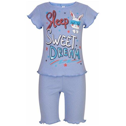Купить Пижама для девочки 824п, Утенок, размер 52(рост 92 см) голубой_сон, Домашняя одежда