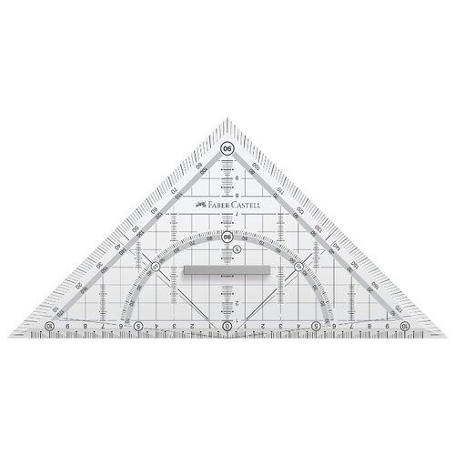 Купить Faber-Castell Многофункциональный треугольник 22 см (171010) прозрачный, Чертежные инструменты