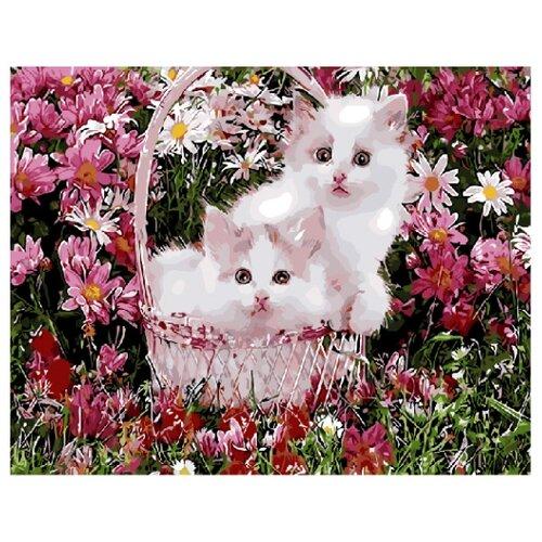 Фото - ВанГогВоМне Картина по номерам Котята в корзинке, 40х50 см (ZX 22124) картина по номерам 30 x 40 см krym fn11