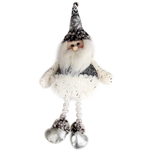 Мягкая игрушка Зимнее волшебство Дед Мороз - ножки из бусинок 27 см