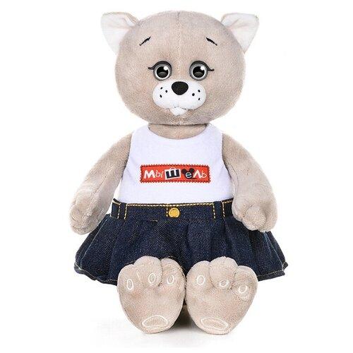 Купить Мягкая игрушка Maxitoys Мышель Джинсовой Юбке и Футболке, 20 см MT-MRT051906-20, Мягкие игрушки