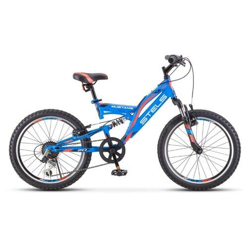 Велосипед STELS Mustang V 20 (V010) 13 синий велосипед stels 2612 v