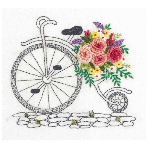 Купить PANNA Набор для вышивания Букет на колесах 16.5 x 15 см (JK-2139), Наборы для вышивания