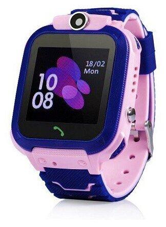 Купить Умные детские часы с GPS / LBS трекингом, поддержкой звонков и кнопкой SOS, Розовый / Синий по низкой цене с доставкой из Яндекс.Маркета (бывший Беру) - Дарим детям