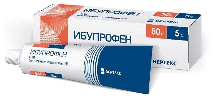Ибупрофен-ВЕРТЕКС гель д/нар. прим. 5% 50 г