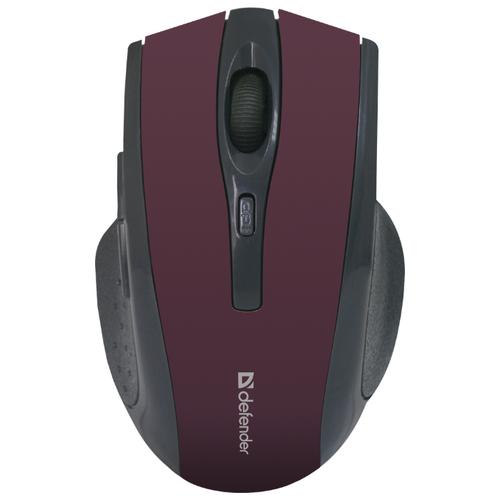 Беспроводная мышь Defender Accura MM-665, красный беспроводная мышь defender accura mm 665 usb red