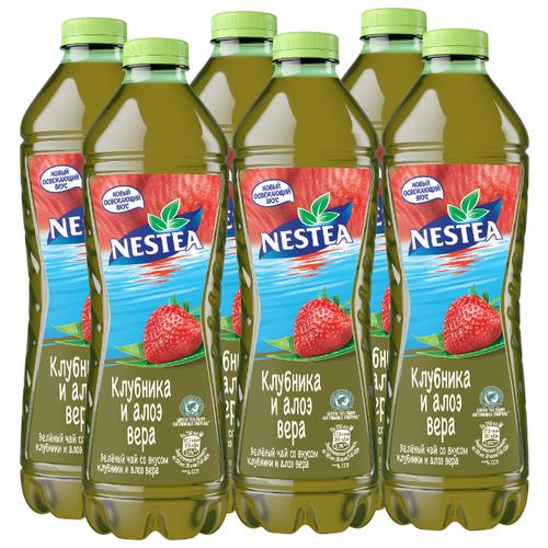 Чай Nestea зеленый со вкусом Клубники и Алоэ вера, 1.5 л, 6 шт.