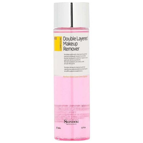 SKINDOM двухфазное очищающее средство для снятия макияжа Double Layered Makeup Remover, 150 мл