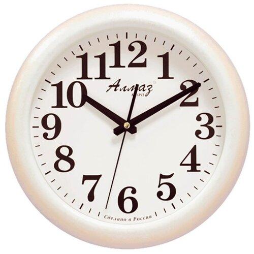 Часы настенные кварцевые Алмаз H26-H29 белыйЧасы настенные<br>