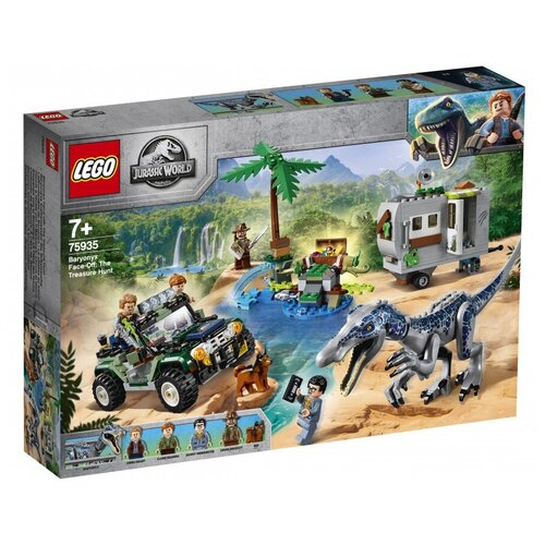Купить Конструктор LEGO Jurassic World 75935 Поединок с бариониксом: охота за сокровищами, Конструкторы
