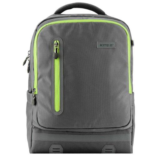 Купить Kite Рюкзак Education Trendy K19-746M серый/ зеленый, Рюкзаки, ранцы