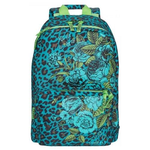 цена на Рюкзак Grizzly RD-830-1/5 11 (леопард-бирюза)