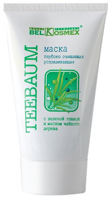 Belkosmex Маска Глубоко очищающая успокаивающая с зеленой глиной и маслом чайного дерева