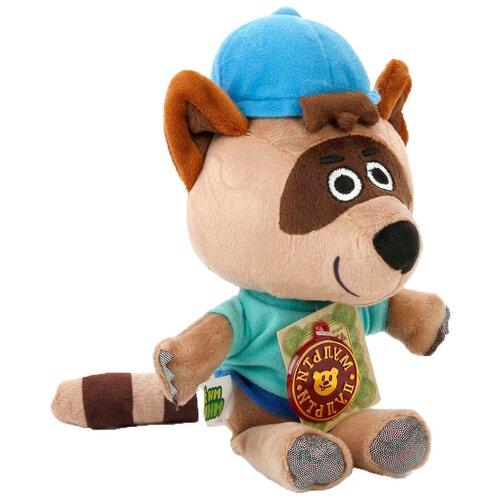 Фото - Мягкая игрушка Мульти-Пульти Ми-ми-мишки Енот Саня 20 см, муз. чип мягкая игрушка мульти пульти ми ми мишки лисичка в ободочке 20 см