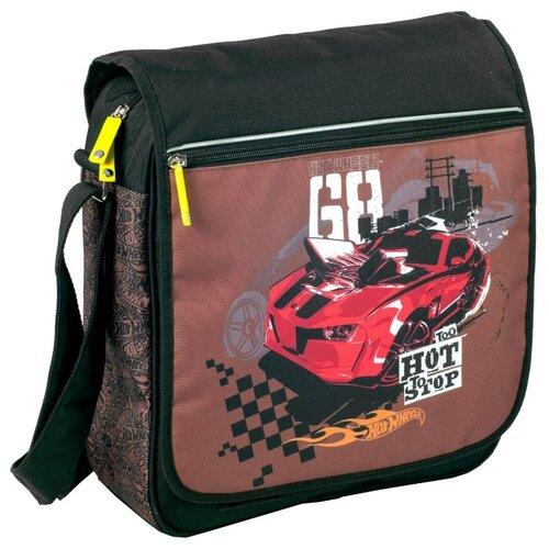 Купить Школьная сумка ErichKrause Hot Wheels Racing (39165) коричневый, Школьные сумки