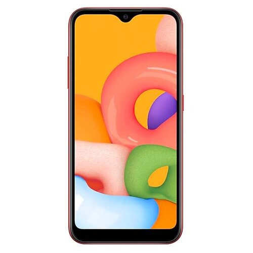 Смартфон Samsung Galaxy A01 красный (SM-A015FZRDSER) смартфон