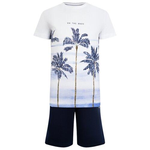 Комплект одежды Mayoral размер 110, белый/синий комплект одежды mayoral размер 110 белый зеленый
