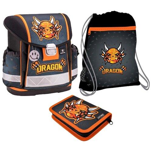 Купить Belmil Ранец Classy Dragon с наполнением (403-13/744/SET), черный/оранжевый, Рюкзаки, ранцы