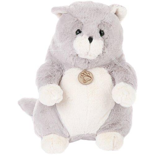 Мягкая игрушка Lapkin Толстый кот серый 33 см