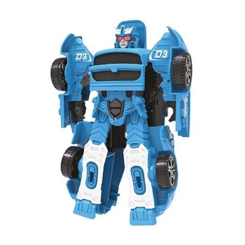 Трансформер Наша игрушка Стальная команда ZYB-B2873-2 голубой роботы наша игрушка трансформер машина робот zyb b2873 2