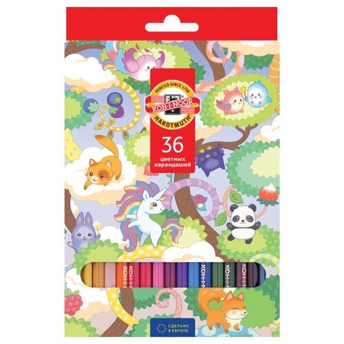 Купить KOH-I-NOOR Карандаши цветные волшебный лес, 36 цветов (3555036037KS), Цветные карандаши