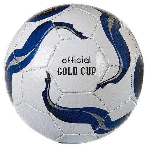 Футбольный мяч Гратвест Т24448 синий/белый 5 мяч гратвест бегемот загорает c20408 22 см синий