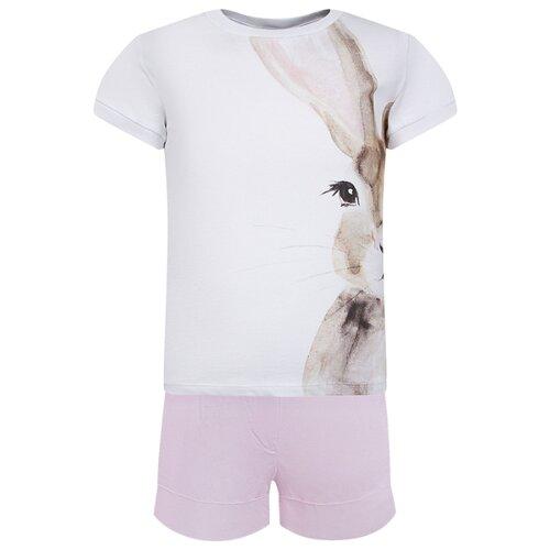 Комплект одежды Il Gufo размер 128, белый/розовый комплект одежды looklie размер 128 134 розовый