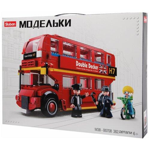 Конструктор SLUBAN Модельки M38-B0708 Лондонский автобус