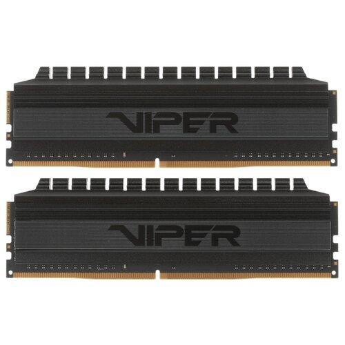 Оперативная память Patriot Memory VIPER 4 BLACKOUT DDR4 3200 (PC 25600) DIMM 288 pin, 32 ГБ 2 шт. 1.35 В, CL 16, PVB464G320C6K