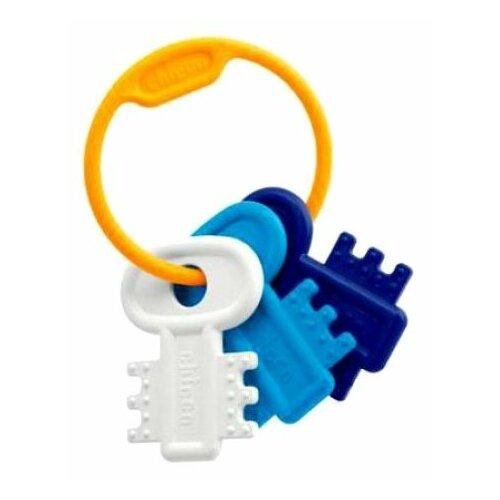 Прорезыватель-погремушка Chicco Ключи на кольце 6321 синий chicco погремушка ключи на кольце голубая chicco