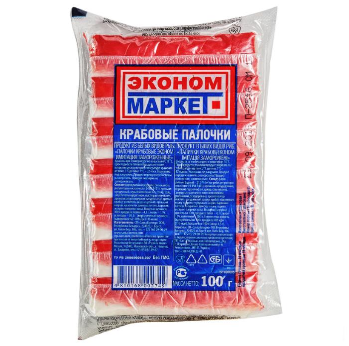 Эконом-Маркет Крабовые палочки замороженные 100 г