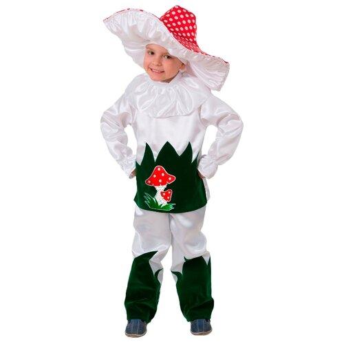 Купить Костюм Батик Грибок (8005), белый/зеленый/красный, размер 140, Карнавальные костюмы