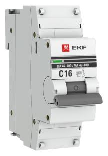 Автоматический выключатель EKF ВА 47-100 1P (C) 10kA