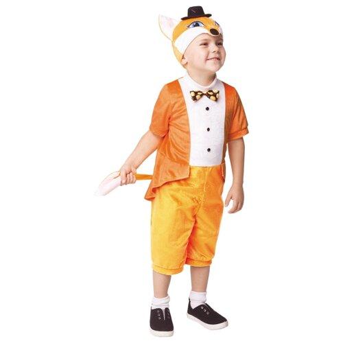 Купить Костюм пуговка Лисенок Фантик (938 к-19), оранжевый/белый, размер 104, Карнавальные костюмы