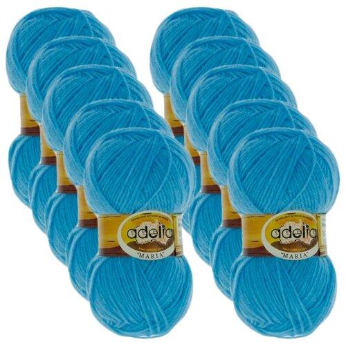 Купить Пряжа Adelia Maria, 100 % акрил, 50 г, 227 м, 10 шт., №11 голубой