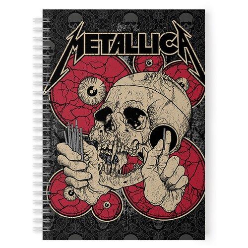 Купить Тетрадь 48 листов в клетку с рисунком Metallica Череп, Drabs, Тетради